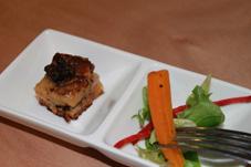 mushroom brioche with crisp salad canape