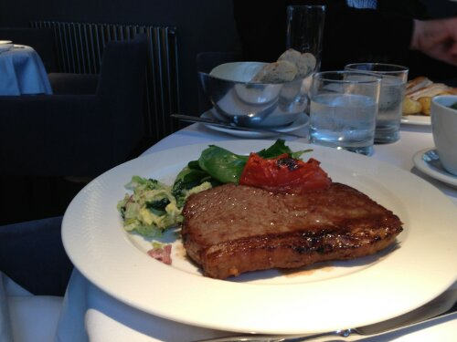 beef steak at alec's restaurant essex