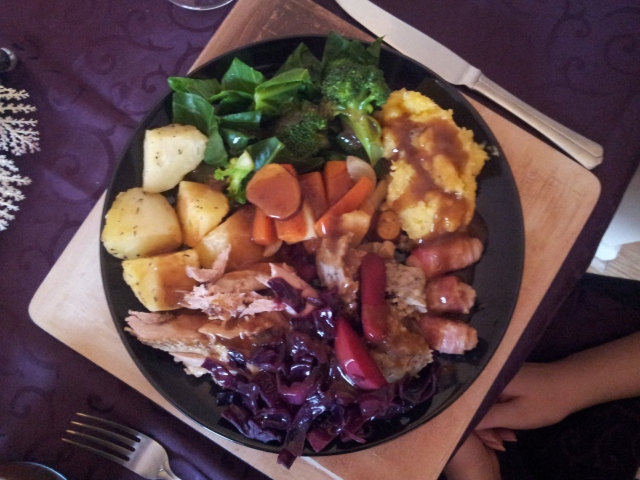 Christmas dinner: Roast pheasant with all the trimmings!